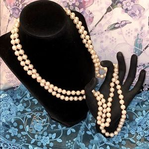 Vintage Glass Pearl Beads